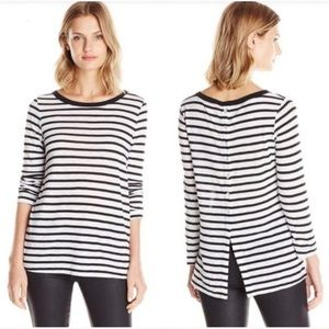 Splendid Cerine Slub Stripe Button Back Top